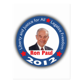Ron Paul 2012 Liberty Justice for All Post Card