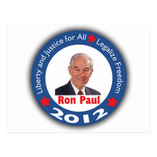 Ron Paul 2012 Liberty Justice for All Postcards