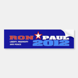 Ron Paul 2012 (Liberty, Prosperity and Peace) Bumper Sticker