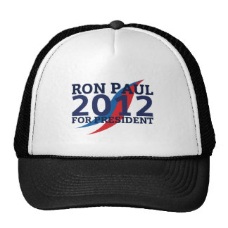 RON PAUL 2012 LIGHT TRUCKER HATS