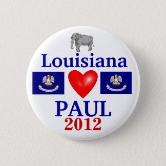 Ron Paul 2012 Louisiana 6 Cm Round Badge
