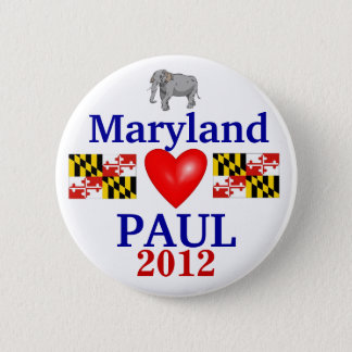 Ron Paul 2012 Maryland 6 Cm Round Badge