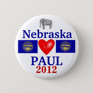 Ron Paul 2012 Nebraska 6 Cm Round Badge