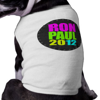 RON PAUL 2012 NEON SLEEVELESS DOG SHIRT