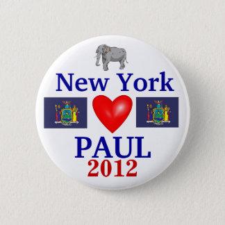 Ron Paul 2012 New York 6 Cm Round Badge