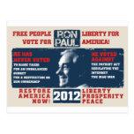 Ron Paul 2012 Postcard