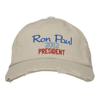Ron Paul 2012 President Cap Embroidered Cap