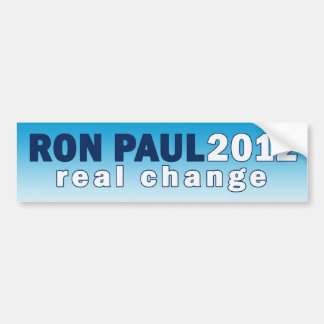 RON PAUL 2012 Real Change Bumper Sticker