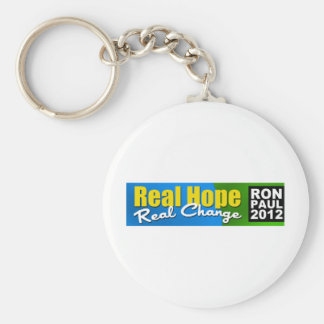 Ron Paul 2012: Real Hope, Real Change Basic Round Button Key Ring