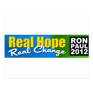 Ron Paul 2012 Real Hope Real Change Post Card