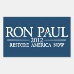 RON PAUL 2012 RECTANGULAR STICKERS