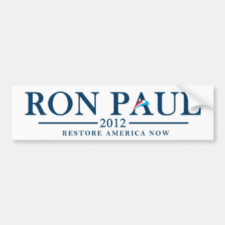 Ron Paul 2012 - Restore America Now Bumper Sticker