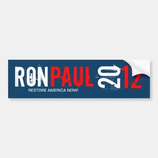 Ron Paul 2012 - Restore America Now Bumper Stickers