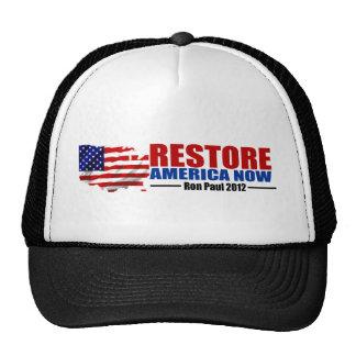 Ron Paul 2012: Restore America Now Mesh Hats
