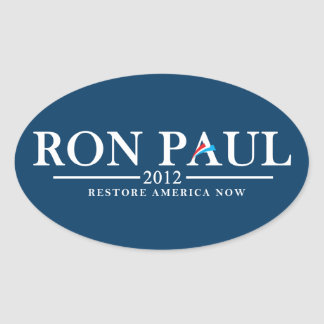 Ron Paul 2012 - Restore America Now Oval Sticker