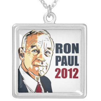 Ron Paul 2012 Silver Plated Necklace