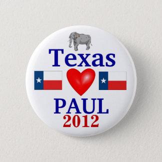 Ron Paul 2012 Texas 6 Cm Round Badge
