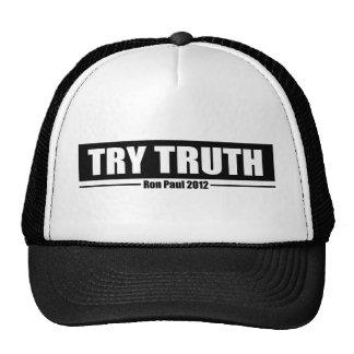 Ron Paul 2012: Try Truth Trucker Hat