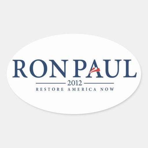 ron paul 2012 usa president election logo politics oval stickers