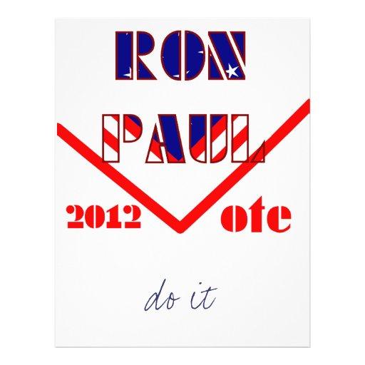 Ron Paul 2 Full Color Flyer