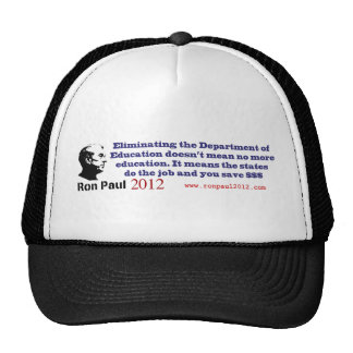 Ron Paul and the Department of Education Cap