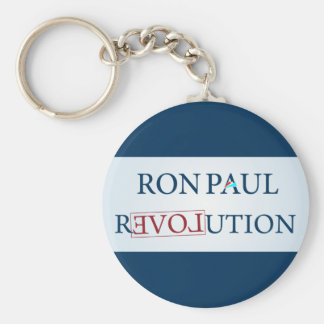 Ron Paul Basic Round Button Key Ring
