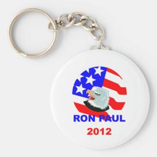 Ron Paul Basic Round Button Key Ring