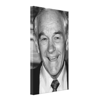 Ron Paul Black & White Portrait Canvas Print