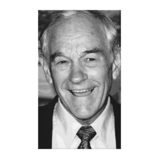 Ron Paul Black & White Portrait Stretched Canvas Prints