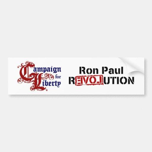 Ron Paul Campaign For Liberty Revolution Bumper Sticker