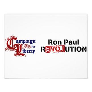Ron Paul Campaign For Liberty Revolution Invitation
