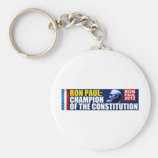 Ron Paul: Champion of the Constitution Basic Round Button Key Ring