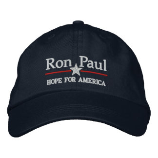 Ron Paul Customizable Campiagn style Hat Embroidered Cap