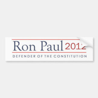 Ron Paul Defender of the Constitution 2012 Bumper Sticker