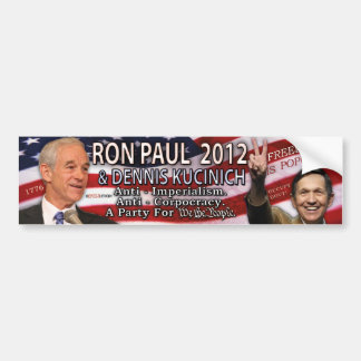 Ron Paul & Dennis Kucinich for 2012 White House Bumper Stickers
