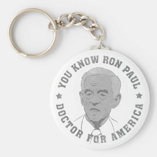 Ron Paul doctor for America Key Chains