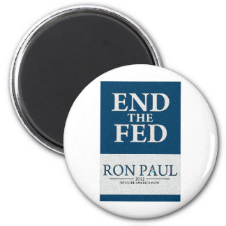 Ron Paul End the Fed Banner Fridge Magnets