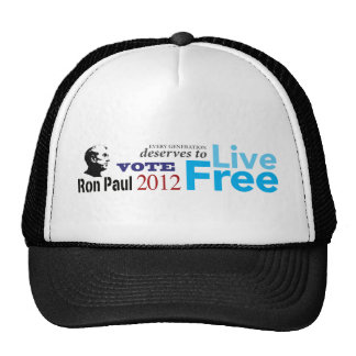 Ron Paul Every Generation Deserves To Live Free Cap