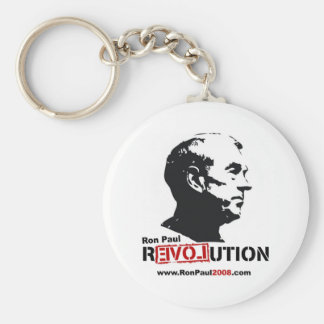 Ron Paul face Stencil - Revolution Basic Round Button Key Ring