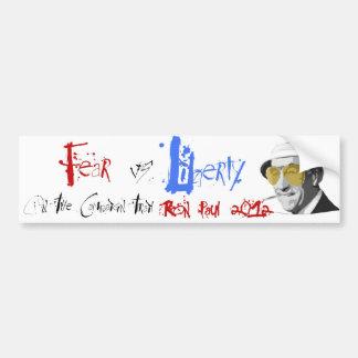 "Ron Paul ""Fear vs Liberty"" Bumper Sticker"