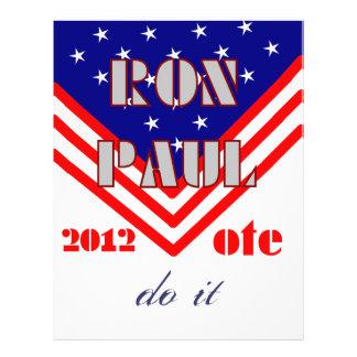 Ron Paul Flyer Design