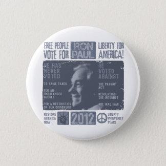 Ron Paul for president 2012 6 Cm Round Badge
