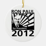 Ron Paul For President 2012 Round Ceramic Decoration
