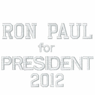RON PAUL FOR PRESIDENT 2012 Jacket-Men's-Red Embroidered Fleece Track Jacket