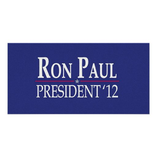 Ron Paul for President 2012 Photo Card Template