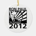 Ron Paul For President 2012 Round Ceramic Decoration