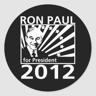 Ron Paul For President 2012 Round Sticker