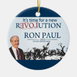 Ron Paul for President Double-Sided Ceramic Round Christmas Ornament