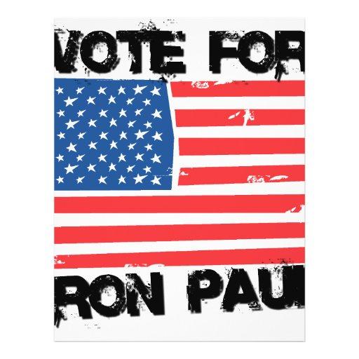 Ron Paul for President Full Color Flyer