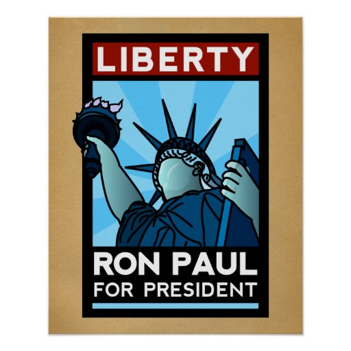 Ron Paul for President Liberty Poster